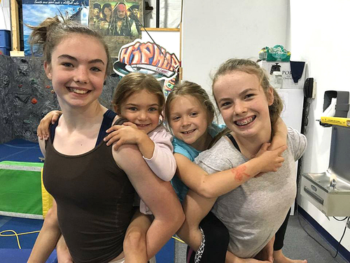Cassidy Gallivan, left, and Carly Gallivan, right, will lead online gymnastics classes for children ages 3 and up. 