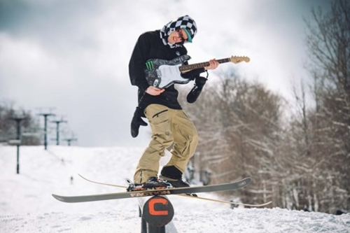 Skiers and riders can jam out at Mount Snow this weekend.