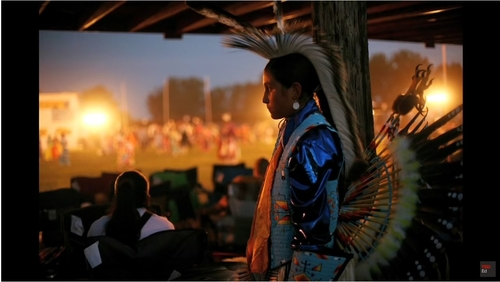 Aaron Huey's effort to photograph poverty in America led him to the Pine Ridge Indian Reservation. Above is a photo taken from the TedTalk.