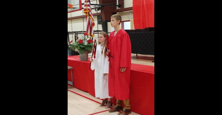 Rising sophomore Kylie Reed and incoming junior Dylan Dupuis were class representatives at Twin Valley's graduation.