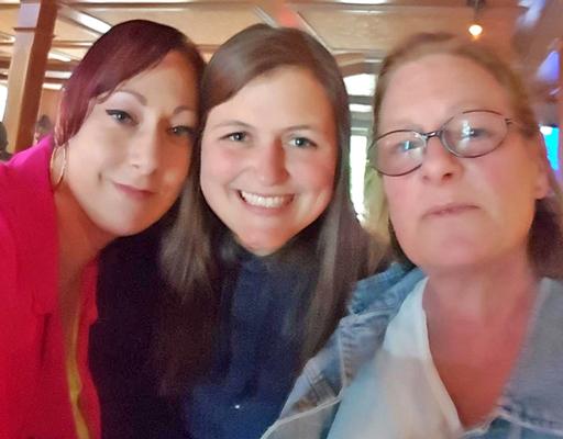 Danielle Wade, Janice Stuart, and Patty Farrington in a selfie taken last year.