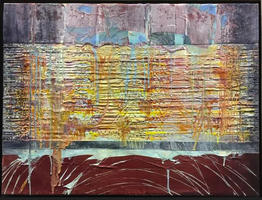 """""""World Screaming"""" by Mara from the """"Encaustic"""" series."""