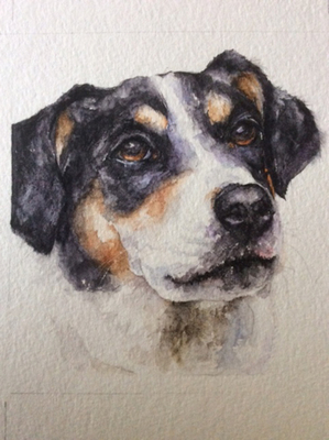Cherie Keeler Moran's work will be on exhibit through September. Moran works mostly in  watercolor but will show other mediums in this exhibit.