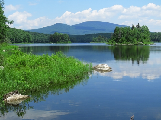 Nicki Steel captures a stunning day on Somerset with Stratton Mountain in the distance.