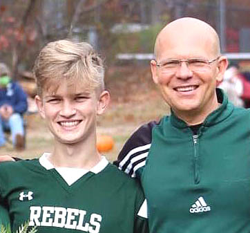 Riley Barton along with his father and coach Chris Barton will represent the Rebels at the Lions Cup. Facebook