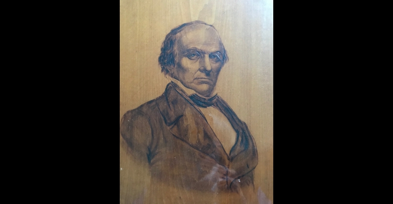Pyrograph of Daniel Webster