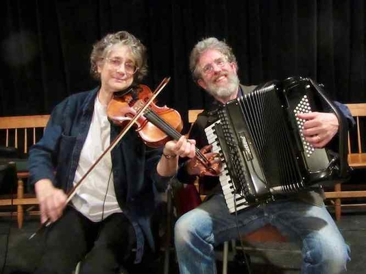 Laurie Indenbaum, on fiddle, with Andy Davis, on accordion, will  provide some traditional music and calling at the contra dance.