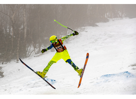 Skiers and riders showed off their best mogul runs and jumps for the judges at the 2019 Glade-iator at Mount Snow.