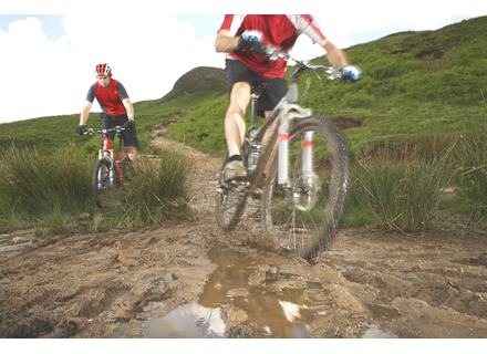 State officials are urging hikers and bikers to avoid muddy trails during spring runoff.