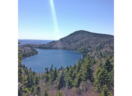 Haystack peak and pond, seen from the Deerfield Ridge Trail between Mount Snow and Haystack.   File photo.