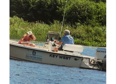 Personnel from the fresh water institute conducted a study on milfoil.