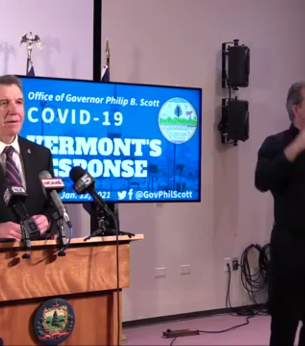 "Gov. Phil Scott warned Vermonters who attend protests not to be ""played"" by extremists"