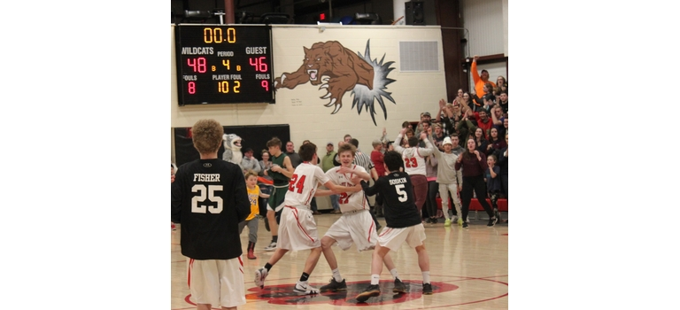 After the clock hit 00.0, players and fans celebrated the Wildcats' two-point win over Rivendell.