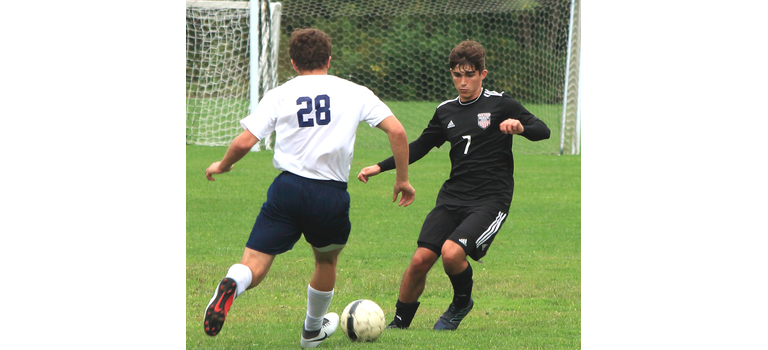 Casey Sibila works against a Stratton defender.                                