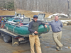Brian Lynch, left, and Charles Foster are working together to bring fly-fishing opportunities to the upper reaches of the Deerfield River basin. Photo by Randy Capitani