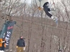 Twin Valley rider Sam Fleischer executes a backside 180 during a slopestyle competition at Bromley Mountain in February. Fleischer finished fifth in last week's state championships, held at Okemo Mountain.  Photos courtesy Brennan Cofiel