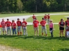 Senior baseball players Hayden Reed, Logan Park, James McGovern, and Joey Rafus, along with senior manager Jordyn Bolognani, were recognized along with their families before the final game of the season.  Photo by TJ Sibilia