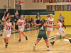 Kylie Reed, right, leads the Twin Valley fast break in game against Mount St. Joseph on December 19.  The Mounties have beaten Twin Valley twice this season.