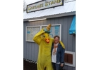 Janet Boyd and a feathered friend before last year's Great Duck Race.