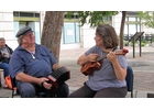"Bob Zentz and Jeanne McDougall play a traditional Scottish folk tune, ""The Skye Boat Song,"" at the Capital Maritime Music Fest."