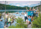 A group of youth having fun at a previous Green Mountain Conservation Camp.