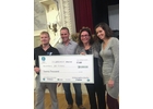 Paul Croutworst, left, and Hannah Cofiell, right, were the winners in the Make It On Main Street competition. In the middle are Paul Pabst and Lisa Sullivan.