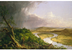 The Deerfield River is a tributary of the Connecticut River, depicted here in Thomas Cole's 1836 painting