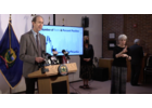 Dr. Mark Levine speaks at Tuesday's press conference.