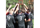 The Twin Valley soccer team celebrates after beating Arlington 4-1 to win the boys' D4 state title.