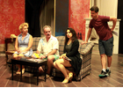 "The cast rehearses for ""The Fourth Wall."""